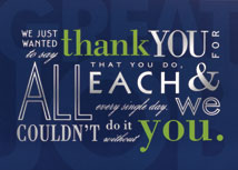 Inspirational Thank You Cards